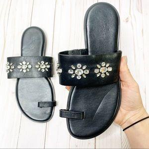 Michael Kors Black Jeweled Sandals